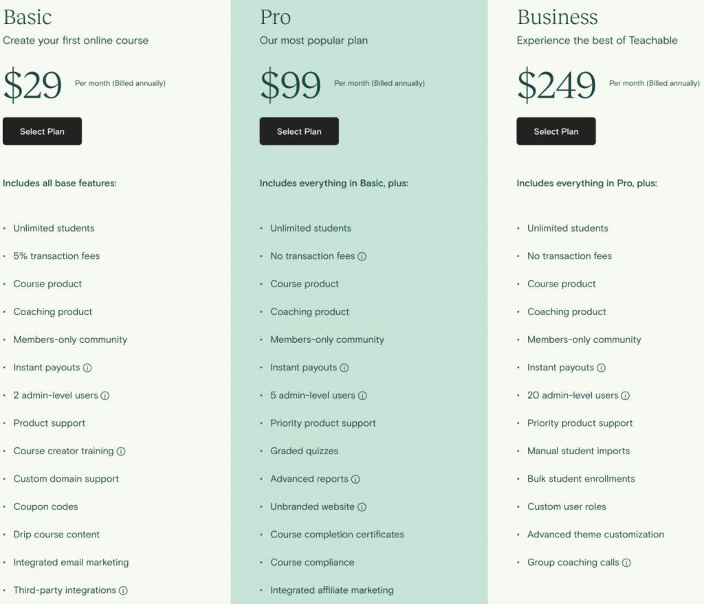 teachable-pricing